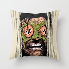 Shining Eye Holes Throw Pillow