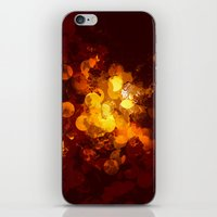 gold dots iPhone & iPod Skins featuring Dots by Eponine