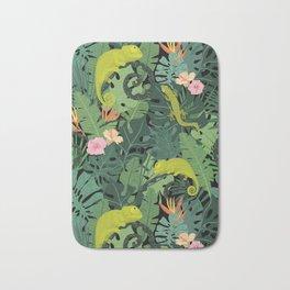 Chameleons And Salamanders In The Jungle Pattern Bath Mat