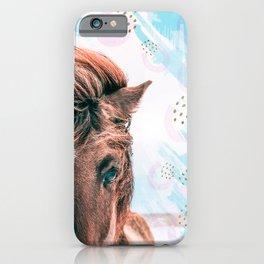 Horse horseshoes iPhone Case