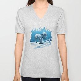 Two Manatees Swimming Unisex V-Neck
