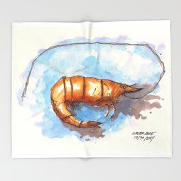 Mississippi Gulf Coast Shrimp Throw Blanket