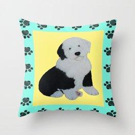 Yellow Dog Throw Pillows | Society6