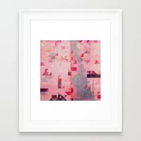river Framed Art Prints featuring river by Laura Veinticuatro