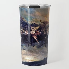 Peter Nicolai Arbo - The Wild Hunt of Odin - Digital Remastered Edition Travel Mug
