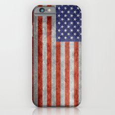 Flag of the United States of America in Retro Grunge Slim Case iPhone 6s
