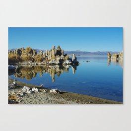 Mono Lake shore and tufa formations, California Canvas Print