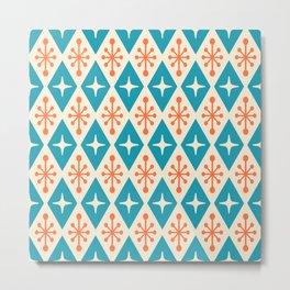 Mid Century Modern Atomic Triangle Pattern 107 Metal Print