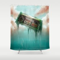 nintendo Shower Curtains featuring Nintendo´s Reborn. by Gerkyart.