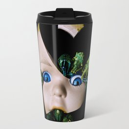 Little Broken Dolly Face - Halloween III Travel Mug