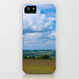 Looking across the Cotswolds, England iPhone Case