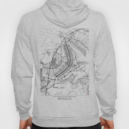 Brasilia Map White Hoody