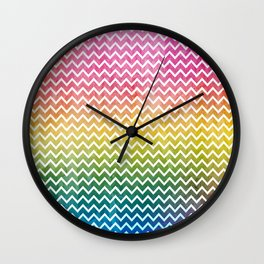 abstract lines vintage pattern Wall Clock