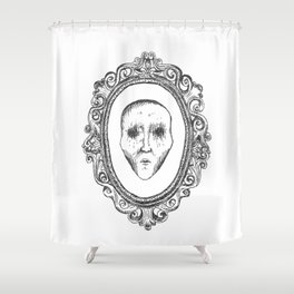 framed no one Shower Curtain