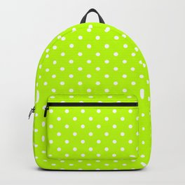 Dots (White/Lime) Backpack