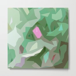Abstract Camouflage Metal Print