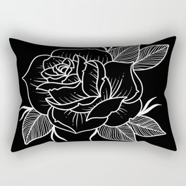 black rose Rectangular Pillow