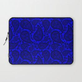 Paisley (Black & Blue Pattern) Laptop Sleeve