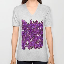 """Purple Hyacinth"" Garden Queen Floras Unisex V-Neck"