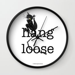 Hang loose is one complicated emotion of a cat! Wall Clock