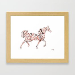 Arabian Horse Words Framed Art Print