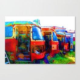 Scrapyard Buses Canvas Print