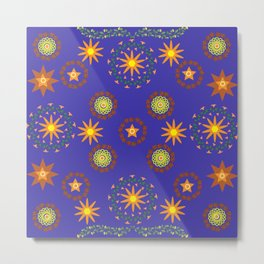 Star pattern8 Metal Print