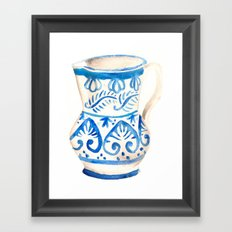 handmade ceramic Framed Art Print