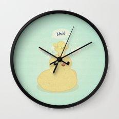 the dark side of fluff Wall Clock