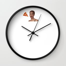 where's the pizza?? Wall Clock
