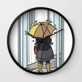 It's Pouring Wall Clock
