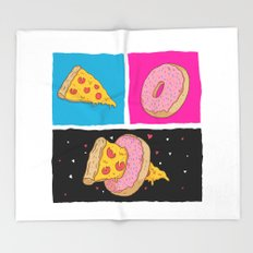 Pizza & Donut Throw Blanket