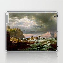 Johan Christian Dahl Shipwreck on Coast Norway Laptop & iPad Skin
