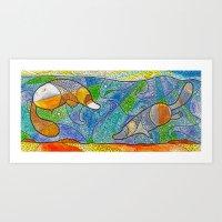 platypus Art Prints featuring Platypus by Nemki