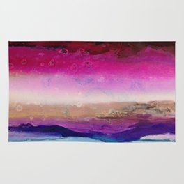 The Sun Sets and Rises Again (an Abstract of Hope) Rug