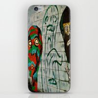 talking heads iPhone & iPod Skins featuring heads by Samantha Sager