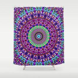 Pretty Gravel Mandala Shower Curtain