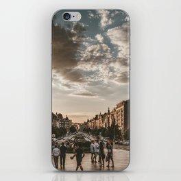 Wenceslas Square in Prague (Czech Republic) iPhone Skin