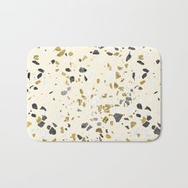 Glitter and Grit Yellow Gold Marble Bath Mat