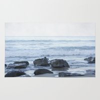 rocky Area & Throw Rugs featuring Rocky Beach by Pure Nature Photos