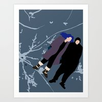 eternal sunshine of the spotless mind Art Prints featuring ETERNAL SUNSHINE OF THE SPOTLESS MIND by Amanda Voyce
