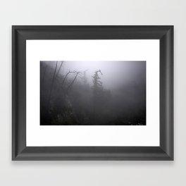 Fog in the crest Framed Art Print