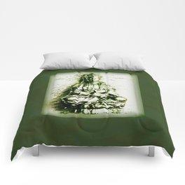 Antique Green Kwan Yin Comforters