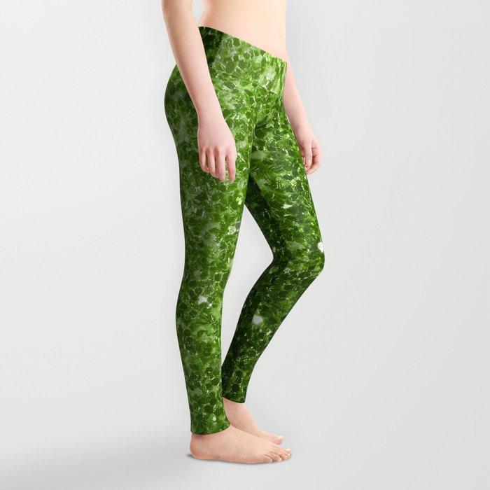 Beautiful Greenery Pantone glitter sparkles Leggings