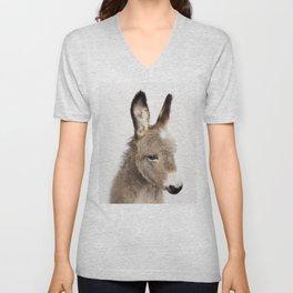 Baby Donkey, Baby Animals Art Print By Synplus Unisex V-Neck