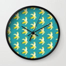 Bananatoos (Blue) Wall Clock