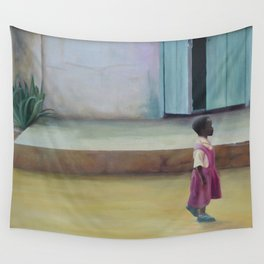 African Girl Wall Tapestry