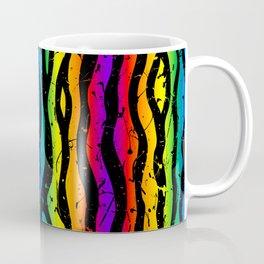 crazy 90s rainbow splatter zebra stripes Coffee Mug