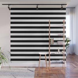 Black and White Horizontal Strips Wall Mural