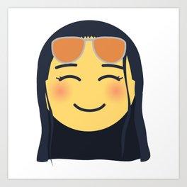 Nico Robin Emoji Design Art Print
